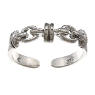 Sterling Silver Double Chain Toe Ring