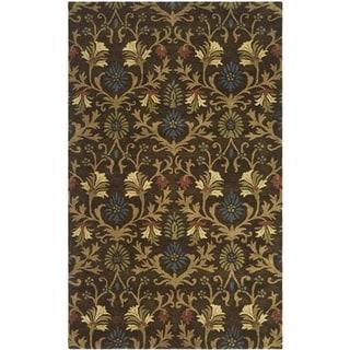Safavieh Handmade Botanica Brown/ Multi Wool Rug (5' x 8')