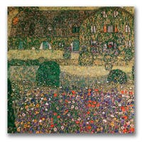 Gustav Klimt 'Country House' Canvas Art - Multi