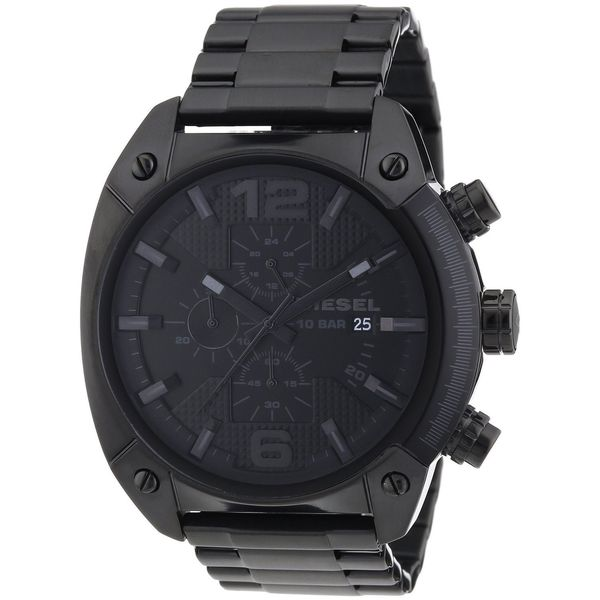 diesel men s black stainless steel chronograph watch diesel men s black stainless steel chronograph watch