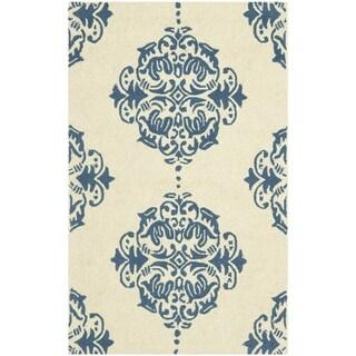 Safavieh Hand-hooked Chelsea Ivory/ Blue Wool Rug (1'8 x 2'6)