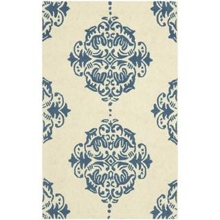Safavieh Hand-hooked Chelsea Ivory/ Blue Wool Rug (2'9 x 4'9)