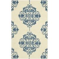 Safavieh Hand-hooked Chelsea Ivory/ Blue Wool Rug - 2'9 x 4'9