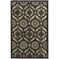 Safavieh Hand-Hooked Chelsea Black/Ivory Wool Geometric Rug - 5'3 x 8'3