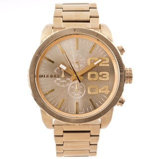 Diesel Men's 'Franchise' Oversized Goldtone Chronograph Watch