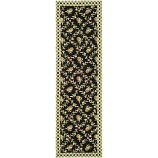 Safavieh Hand-hooked Chelsea Black/ Ivory Wool Rug (2'6 x 6')