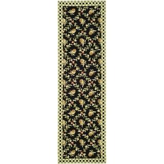 Safavieh Hand-hooked Chelsea Black/ Ivory Wool Rug (2'6 x 8')