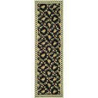 Safavieh Hand-hooked Chelsea Black/ Ivory Wool Rug - 2'6 x 8'