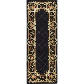 Safavieh Hand-hooked Chelsea Black Wool Rug (2'6 x 8')