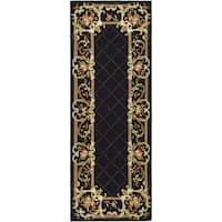 Safavieh Hand-hooked Chelsea Black Wool Rug - 2'6 x 8'