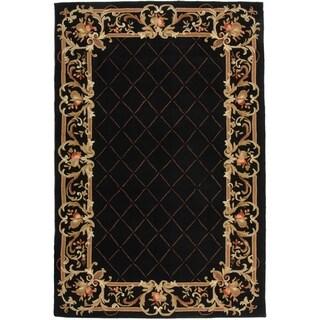 Safavieh Hand-hooked Chelsea Black Wool Rug (3'9 x 5'9)