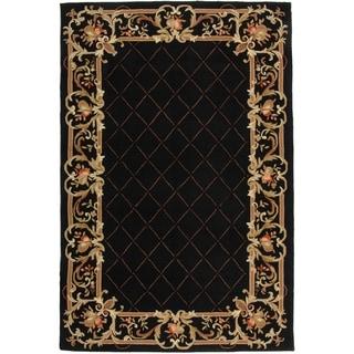 Safavieh Hand-hooked Chelsea Black Wool Rug (5'3 x 8'3)