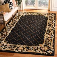 Safavieh Hand-hooked Chelsea Black Wool Rug - 6' x 9'
