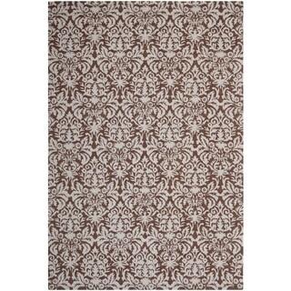 Safavieh Hand-hooked Chelsea Brown/ Grey Wool Rug (5'3 x 8'3)