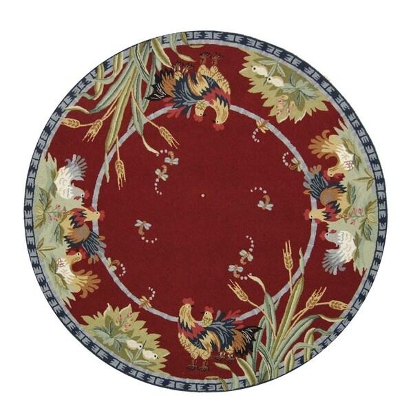 Shop Safavieh Hand-hooked Chelsea Burgundy Wool Rug