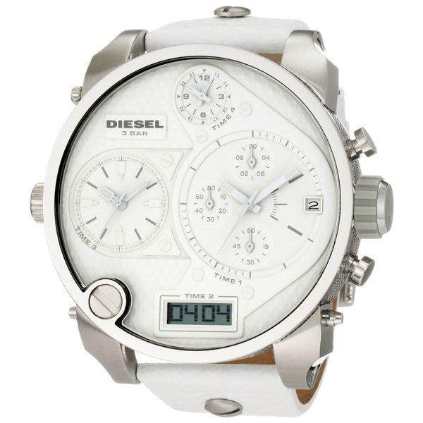 Shop Diesel Men S Dz7194 Oversized Mr Daddy White Watch