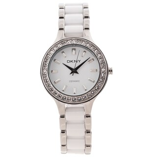 DKNY Women's 'Chambers' Stainless Steel and Ceramic Watch