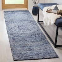 "Safavieh Handmade Ikat Dark Blue/ Multi Wool Rug - 2'3"" x 8'"