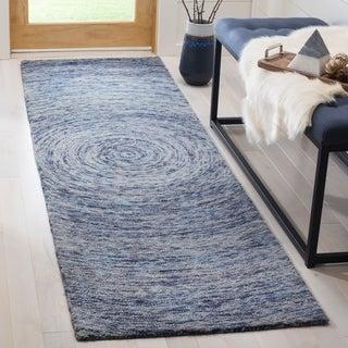Safavieh Handmade Ikat Dark Blue/ Multi Wool Rug (2'3 x 8')