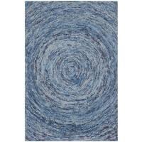 Safavieh Handmade Ikat Dark Blue/ Multi Wool Rug - 2' X 3'