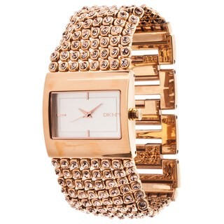 DKNY Women's Rose Goldtone Glitz Watch