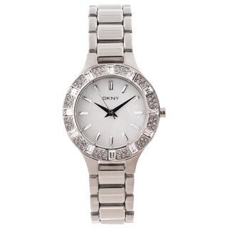 DKNY Women's Mother of Pearl Dial Glitz Watch