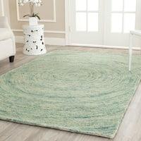 Safavieh Handmade Ikat Ivory/ Blue Wool Rug - 4' x 6'
