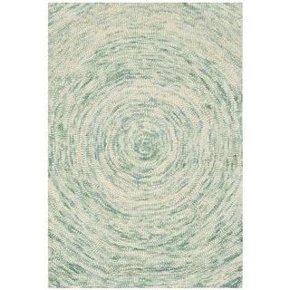 Safavieh Handmade Ikat Ivory/ Blue Wool Rug (2' x 3')