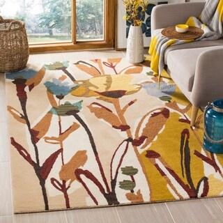 Safavieh Handmade Jardin Ivory/ Multi Floral Wool Rug (4' x 6')