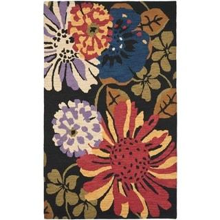 Safavieh Handmade Jardin Black/Multi Floral Wool Rug (8' x 10')