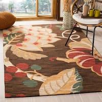 Safavieh Handmade Jardin Brown/ Multi Wool Rug - 5' x 8'