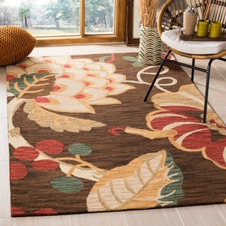 Safavieh Handmade Jardin Brown/ Multi Wool Rug (8' x 10')