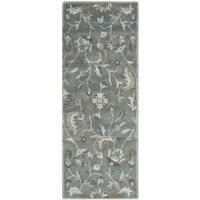 Safavieh Handmade Jardin Grey/ Multi Wool Rug - 2'3 x 6'