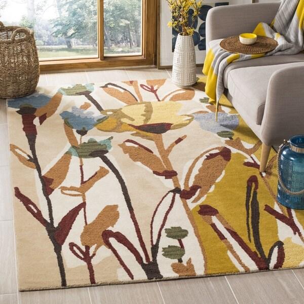 Safavieh Handmade Jardin Ivory/ Multi Wool Floral Area Rug - 8' x 10'