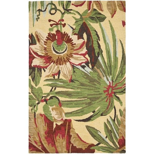 Safavieh Handmade Jardin Ivory/ Multi Wool Rug - 8' x 10'