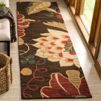 Safavieh Handmade Jardin Brown/ Multi Wool Rug (2'3 x 8')