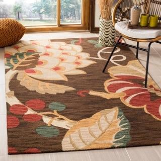 Safavieh Handmade Jardin Brown/ Multi Wool Rug (4' x 6')