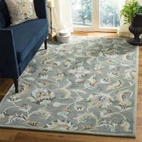 Safavieh Handmade Jardin Grey/ Multi Wool Rug - 6' x 6' Square