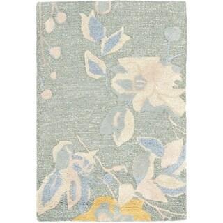 Safavieh Handmade Jardin Silver/ Blue Wool Rug (2' x 3')