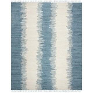 Safavieh Hand-woven Montauk Blue Cotton Rug (8' x 10')