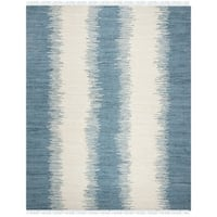Safavieh Hand-woven Montauk Blue Cotton Rug - 8' x 10'