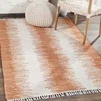 Safavieh Hand-woven Montauk Orange Cotton Rug - 2'6 x 4'