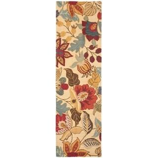 """Safavieh Handmade Jardin Foliage Beige/ Multi Wool Rug - 2'3"""" x 6'"""