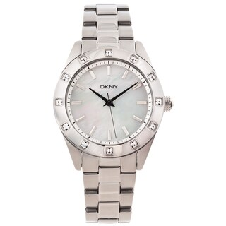 DKNY Women's NY8660 Silvertone Mother of Pearl Dial Glitz Watch