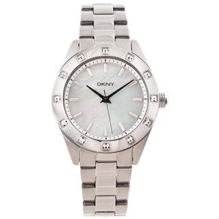 DKNY Women's NY8660 Silvertone Mother of Pearl Dial Glitz Watch
