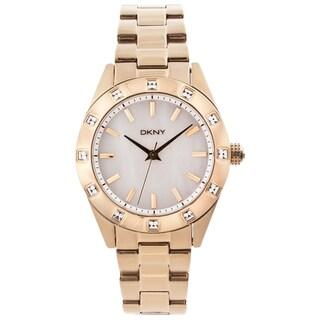 DKNY Women's Goldtone Stainless Steel Glitz Watch
