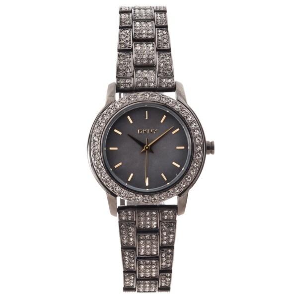 DKNY Women's Gunmetal Steel Glitz Watch