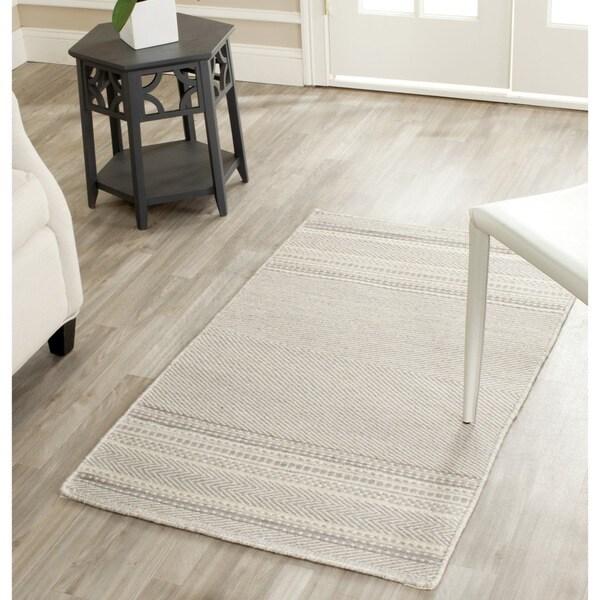 Safavieh Hand-woven Kilim Grey/ Ivory Wool Rug