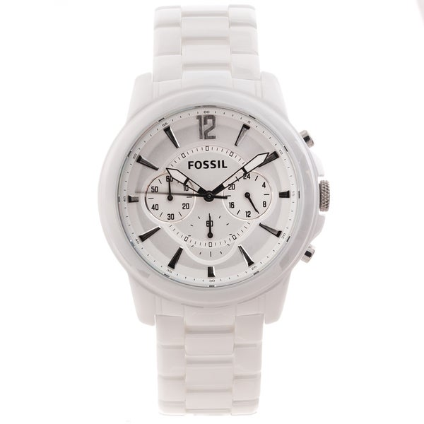 fa90a7dc5 ... Men's Watches. Fossil Men's 'Grant' White Ceramic