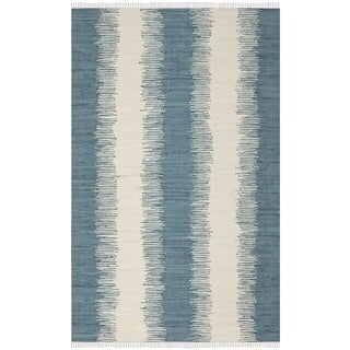 Safavieh Hand-woven Montauk Blue Cotton Rug (5' x 8')